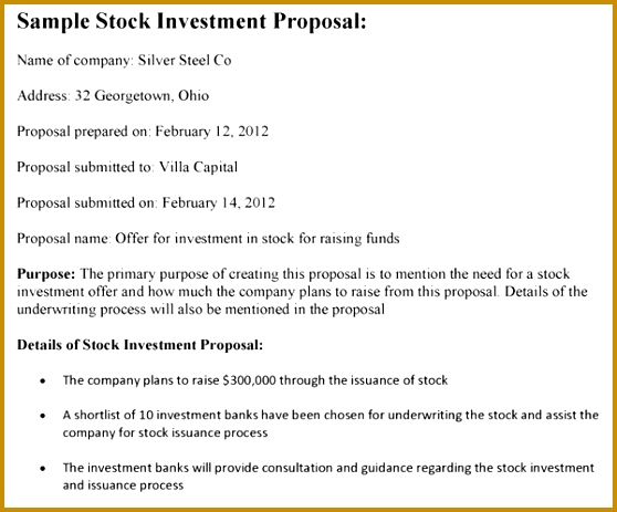 6 Venture Capital Investment Proposal Template Fabtemplatez