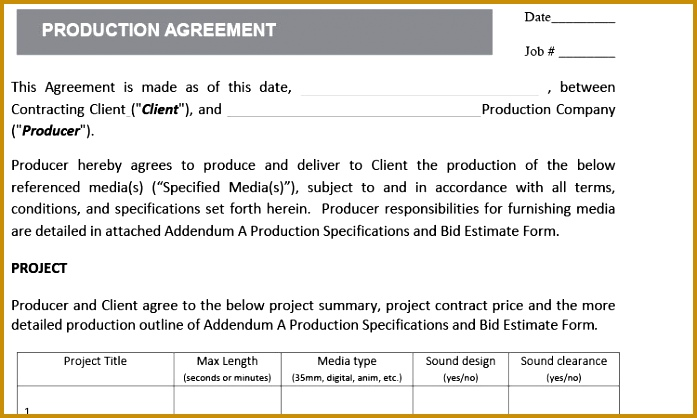 Production Agreement 697418