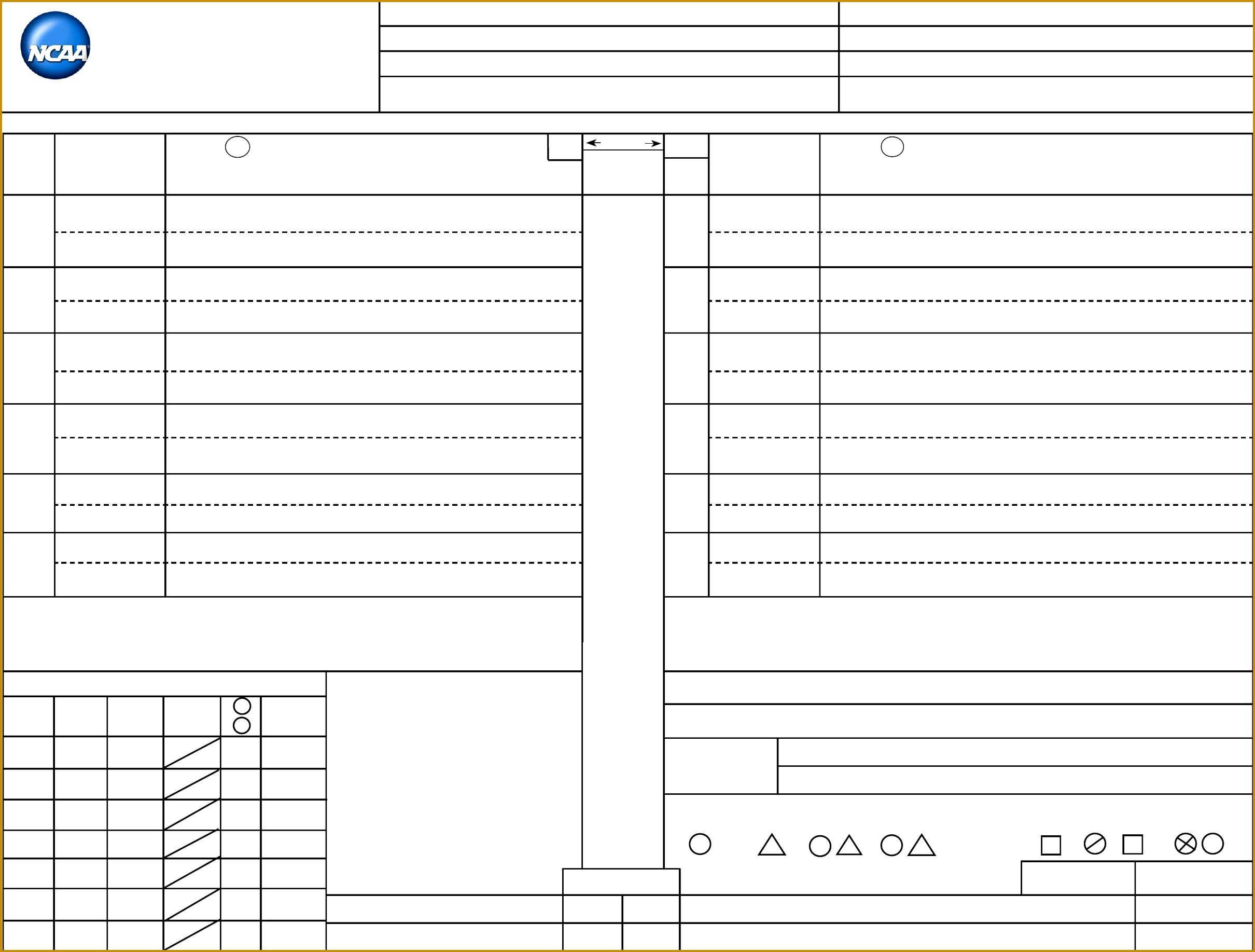 Volleyball Score Sheet Template 18352420
