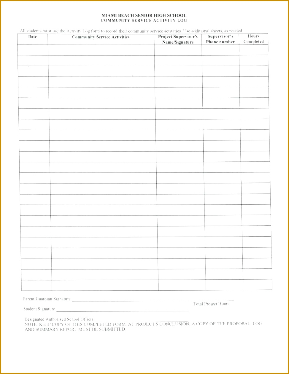 Volunteer Log Sheet Template Eliolera Academy Hospitality And Tourism munity Service Sheet Hours Form Palm Beach County Adv For Bright Futures 1260974