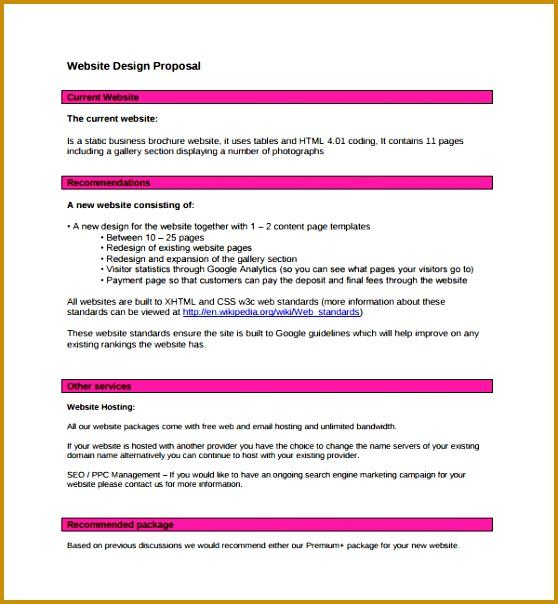 Sample Web Design Proposal Template 8 Free Documents In Pdf Word Website Design Proposal Template 604558