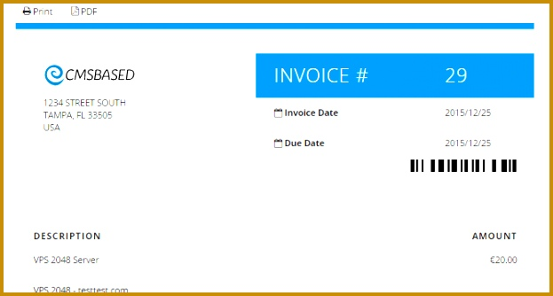 CleanHTML removes the confusion between HTML and PDF invoices in WHMCS The UI elements are placed outside the preview for better usability and HTML design 623334