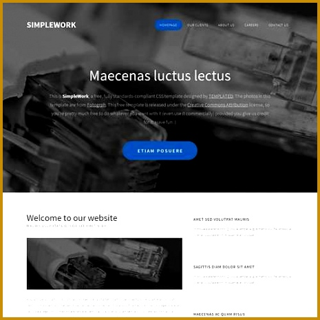 CSS Template A cool landing page with a modern flat style 465465