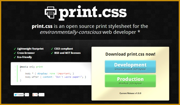print stylesheet website open source css library 595348