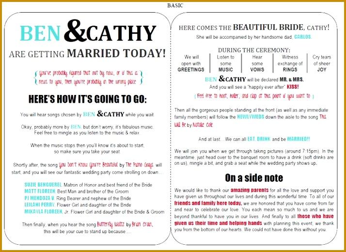 wedding creations free wedding program templates 58d df78c3c4f55a329 714520