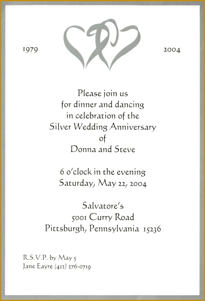 announcement template templates first wedding anniversary party invitation wording 1022697