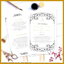 Wedding Anniversary Program Templates 84483 Catholic Template Black By Weddingprintablesdiy