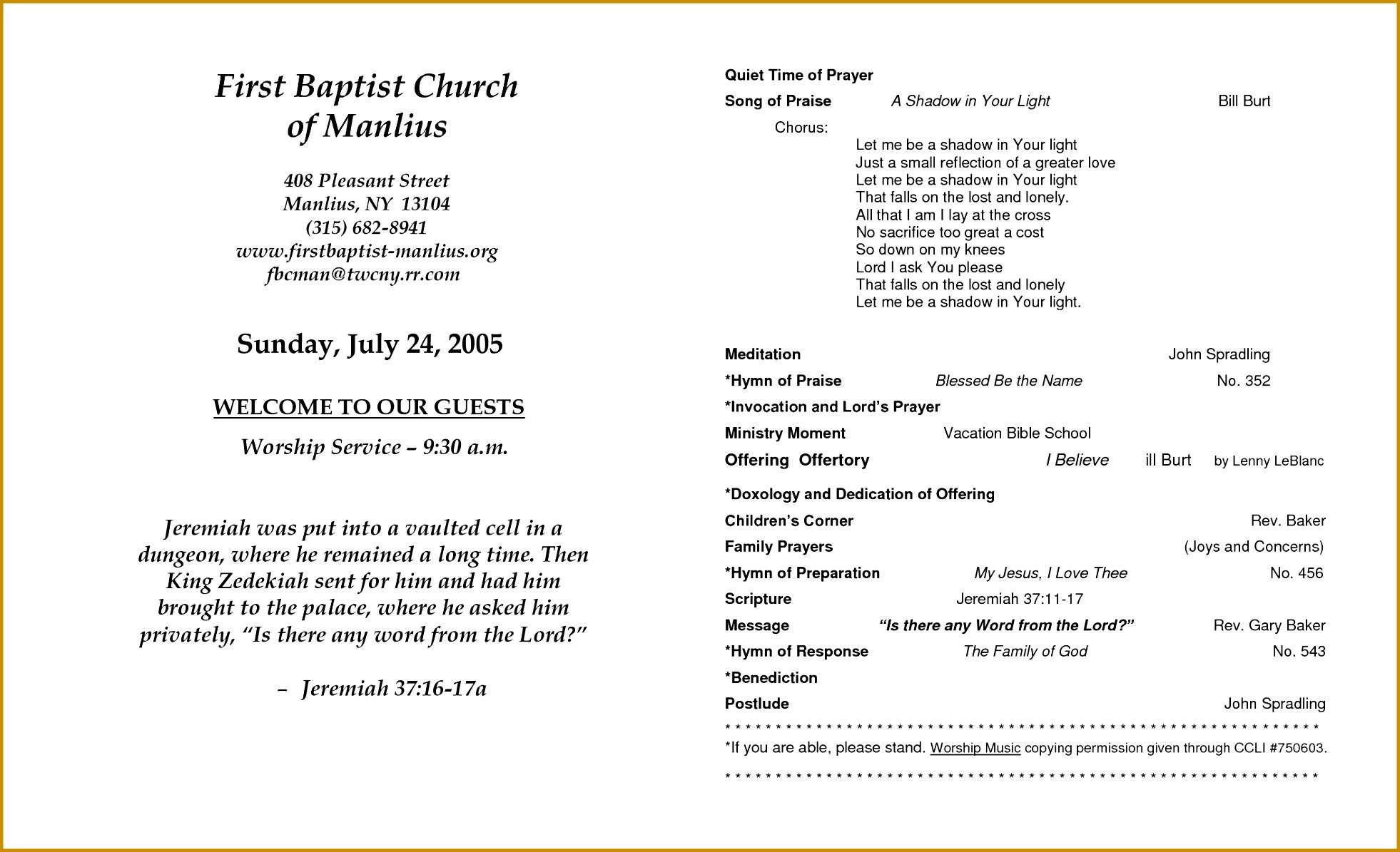 Church Program Templates 11951962