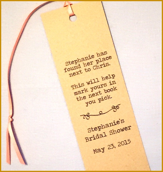Literary Wedding Bookmark Template 575544