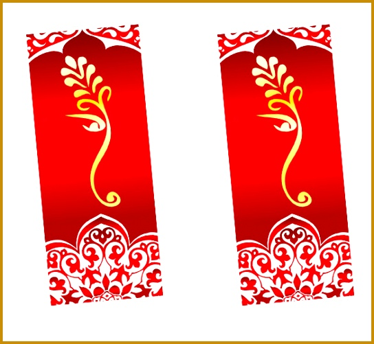 Wedding Bookmark Design With Lord Ganesh 501544