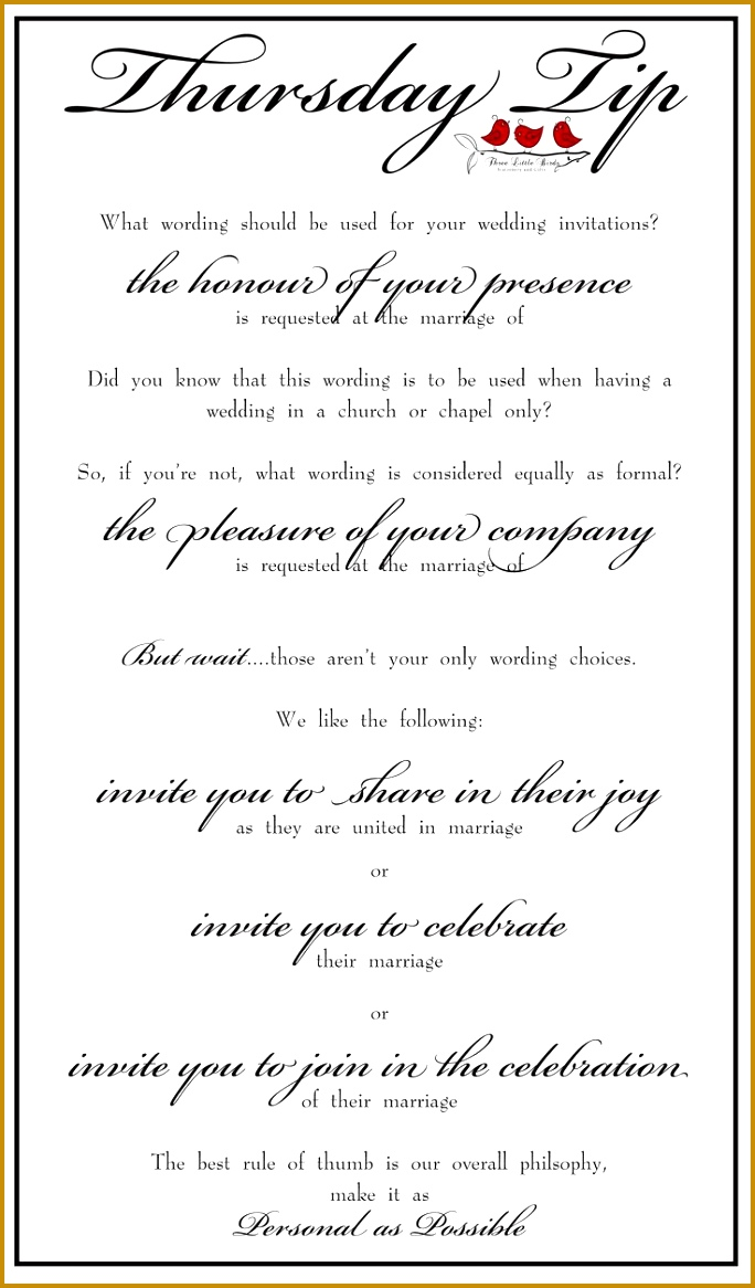 The Best Wedding Invitation Wording Ideas And Templates For Wedding Invitation 1166684