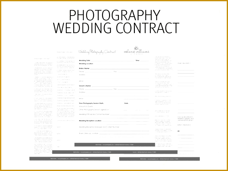 Wedding graphy Contract Business Forms Flowers Editable 558744