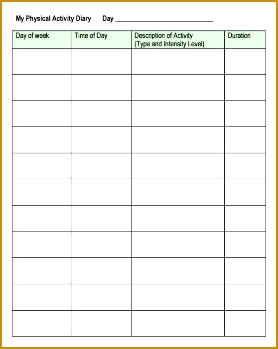 5 Weekly Log Sheet Template