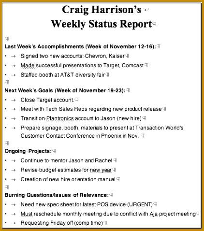status report capture 478422