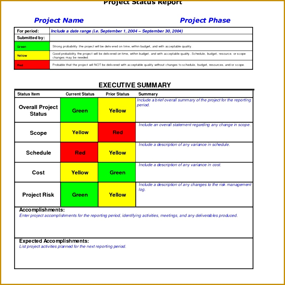 Project Status Report Excel Employee Weekly Report Sample 952952