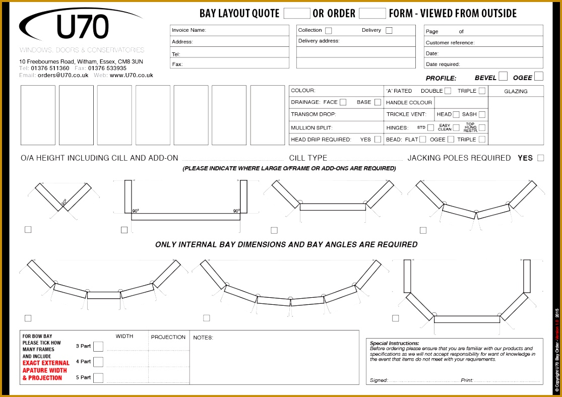 QUOTE ORDER FORM image above for enlarged view 7881115