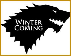 Game of Thrones Winter is ing Stark Vinyl Decal Sticker Cars Trucks Vans Walls Laptops Cups Black 5 5 In KCD786 221279