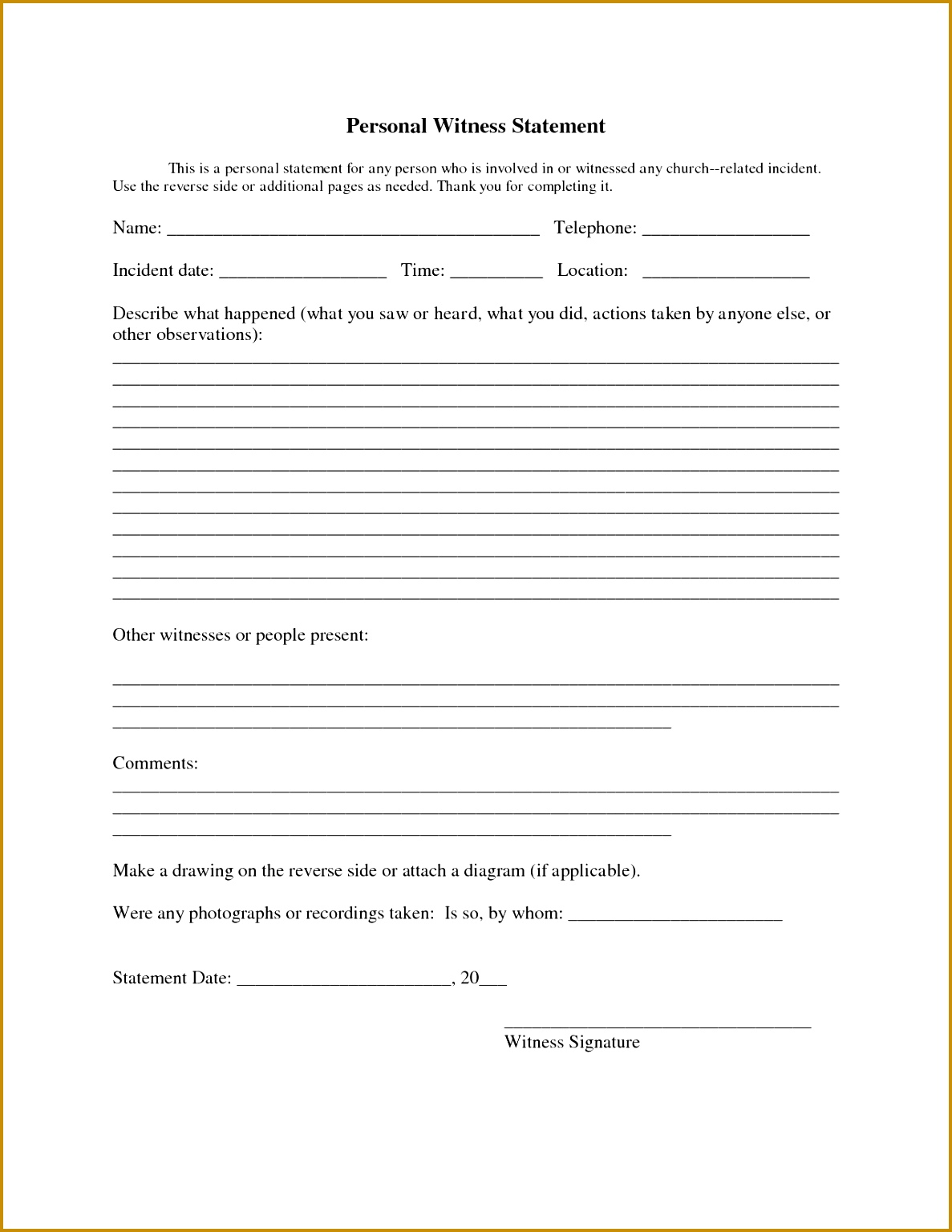 Witness Statement Sample 11871536