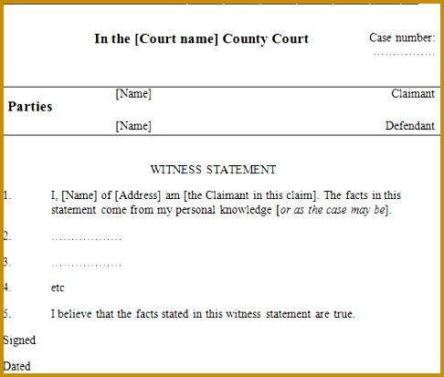 witness statement 413486