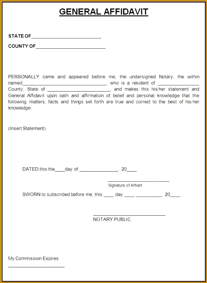 Affidavit Formats] Affidavit Format Template Sample Form 937686