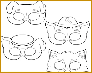 Three Little Pigs Printable Coloring Masks three little pigs big bad wolf pigs 251316