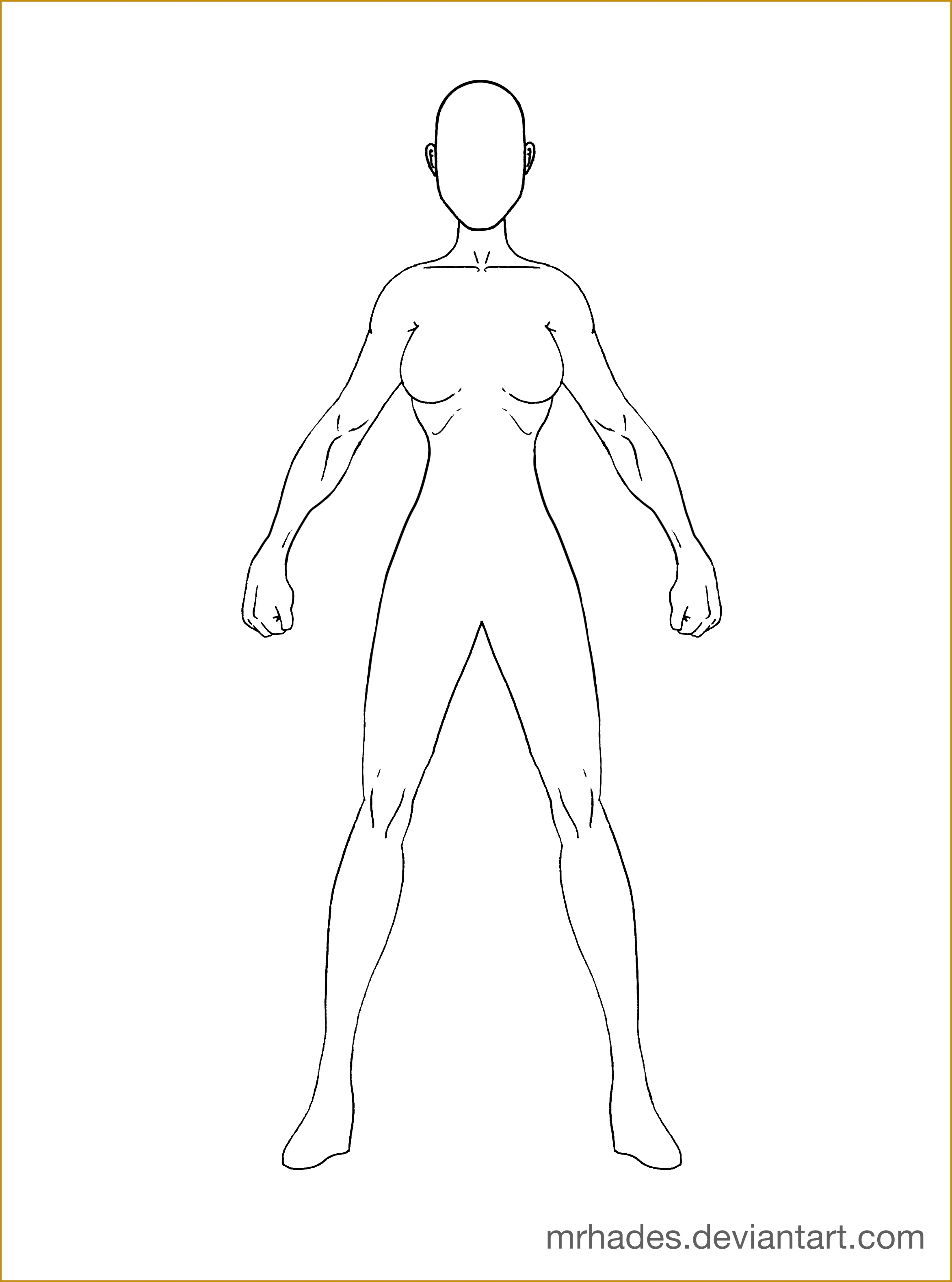 3 Woman Outline Template