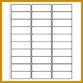 "Easy Peel Address Labels 1"" x 2 5 8"" White 30 per Sheet Template 5960 167167"