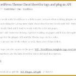 Wordpress Template Tags Cheat Sheet Pdf 77014 Wordpress Cheat Sheets