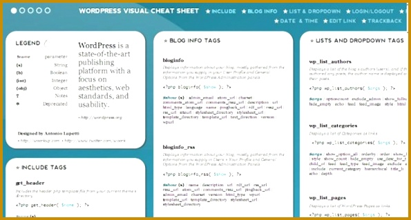 Wordpress template tags cheat sheet pdf images template design ideas wordpress template tags cheat sheet pdf image collections template wordpress template tags gallery template design ideas malvernweather Gallery
