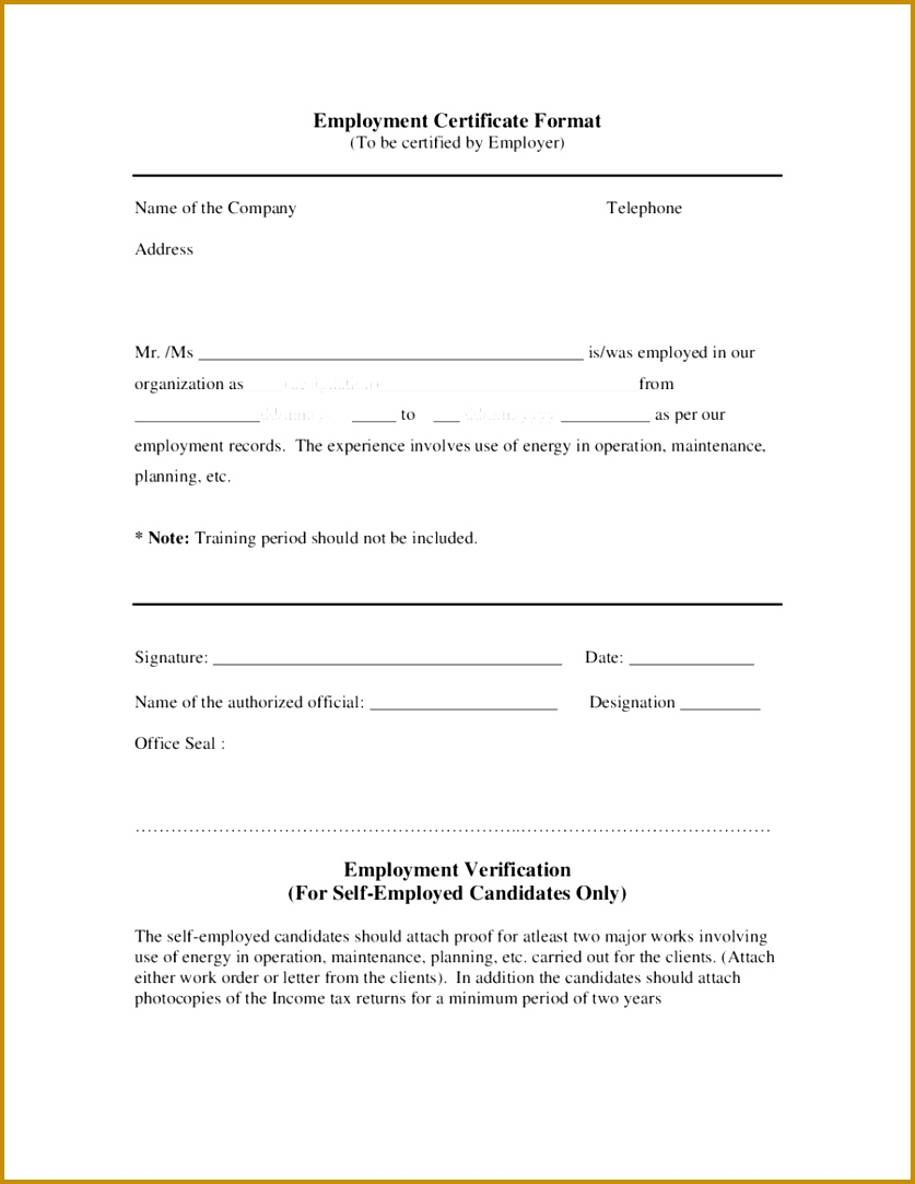 working certificate model