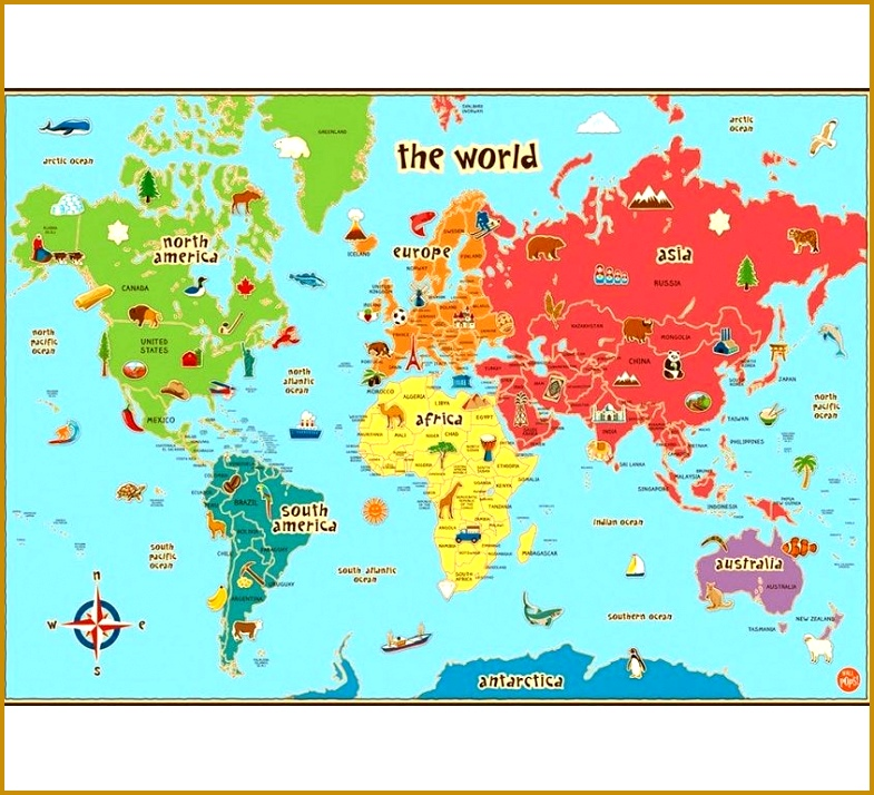 Adorable Childrens World Map Poster And Creative Ideas Diagram Free Collection Clroom Posters 15 714785