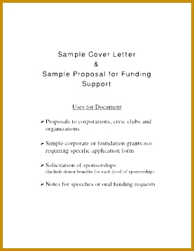 sample cover letter for funding proposal form 358277