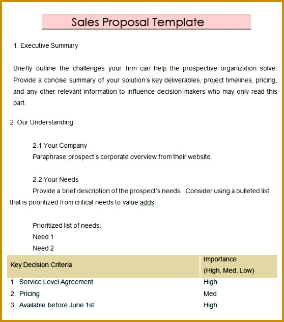 Sales Proposal Template 13 Download Free Documents In Pdf Word 632558