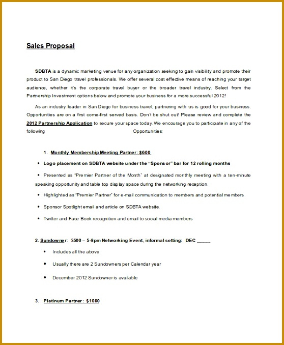 9 Short Proposal Examples & Samples 678558