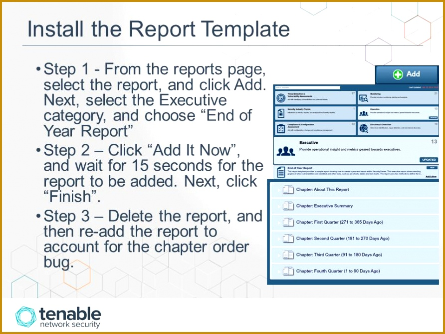 Install the Report Template Step 1 From the reports page select the report 669892