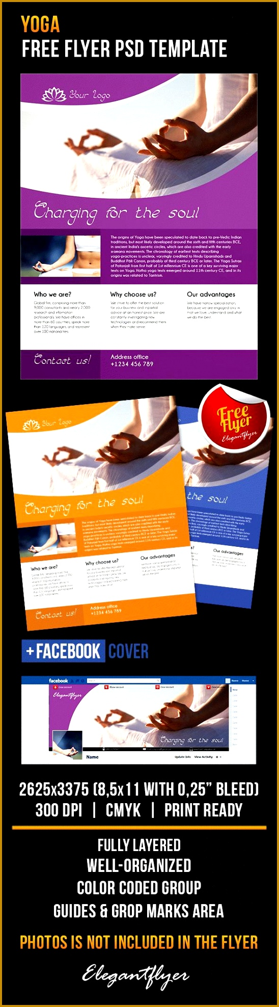 Yoga – Free Flyer PSD Template Cover 5481976