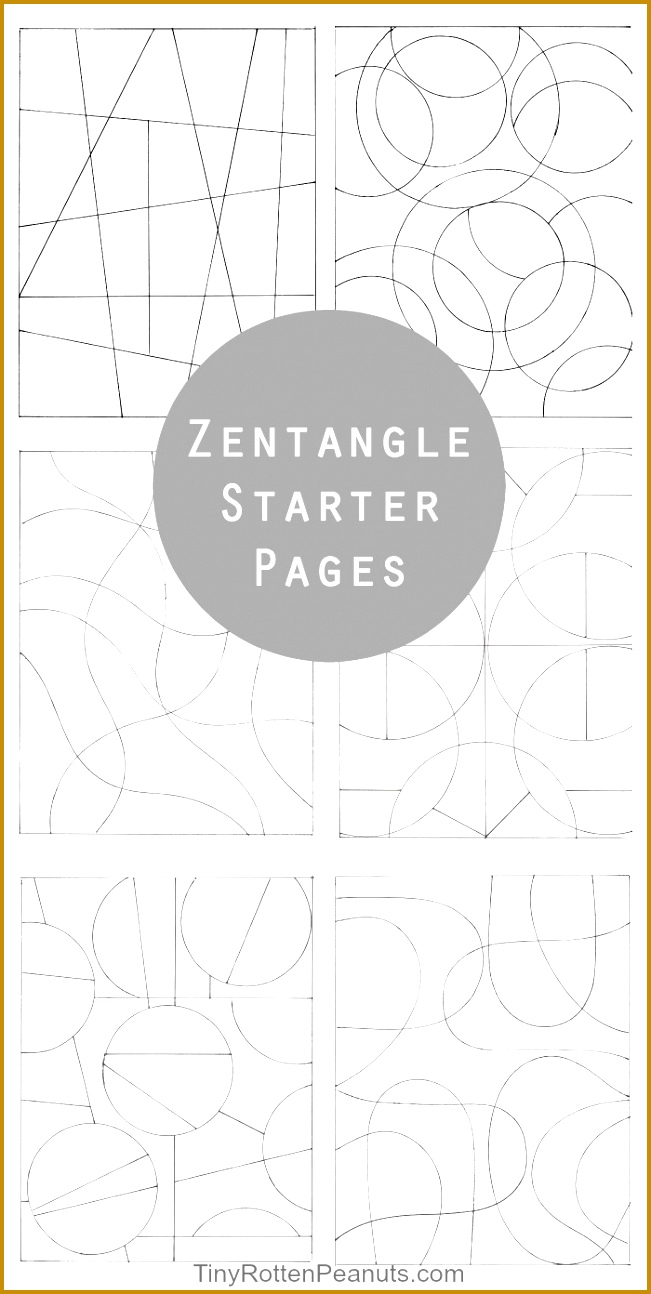Zentangle starter pages and zentangle patterns 6511294