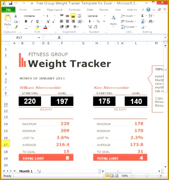 weight loss challange spreadsheet template 111 574539