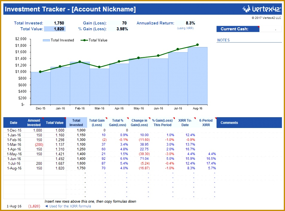 Simple Investment Tracker 704952