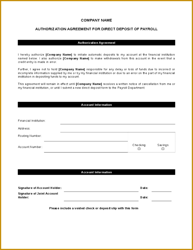 Free 5 Employee Direct Deposit Form Template Word Pdf Social Ebuzz with Direct Deposit 876677