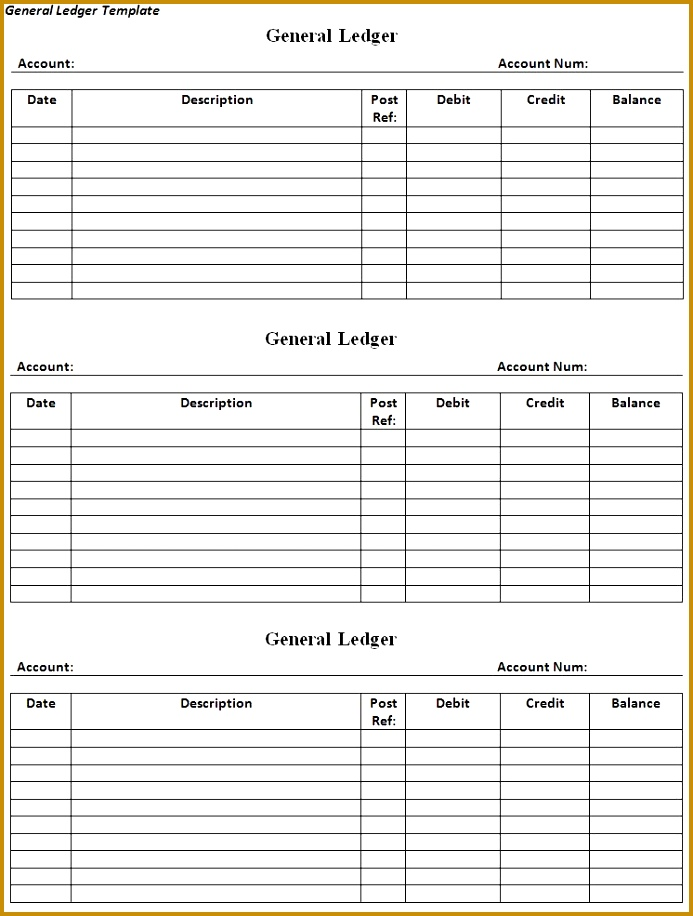3 account ledger template fabtemplatez for Real estate trust account ledger template