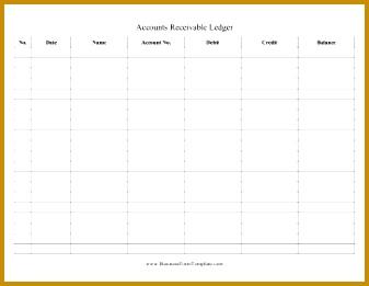 Accounts Receivable Ledger Business Form Template 261337