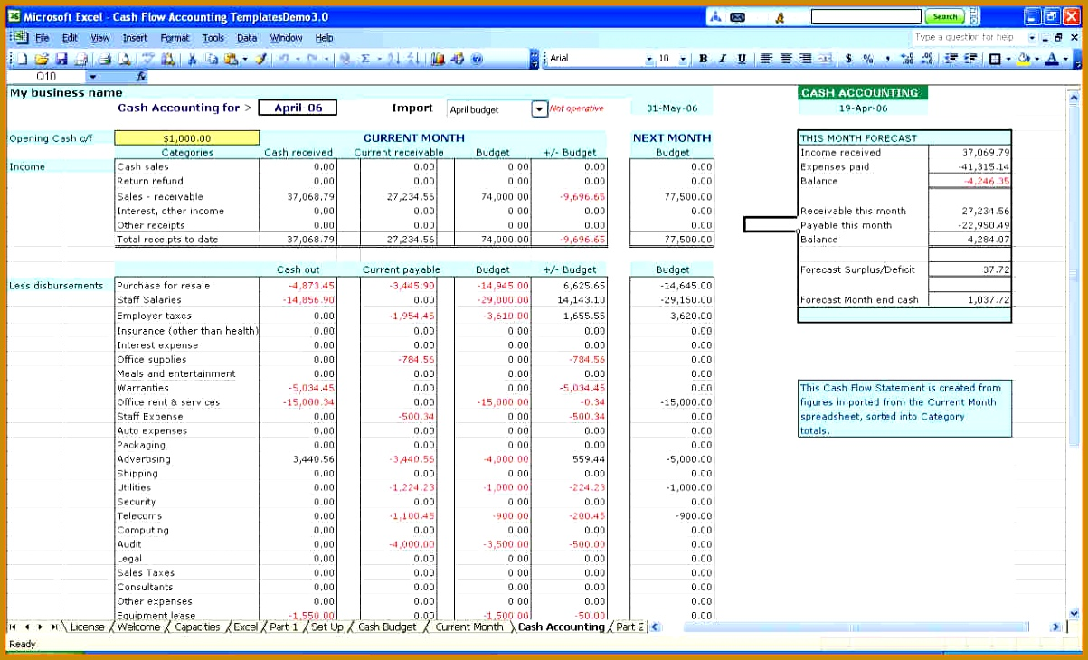 Accounting Spreadsheet Template For Small Business 7301203