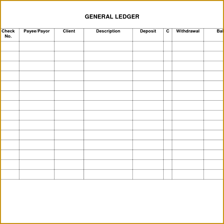 accounting ledger book template free 952952