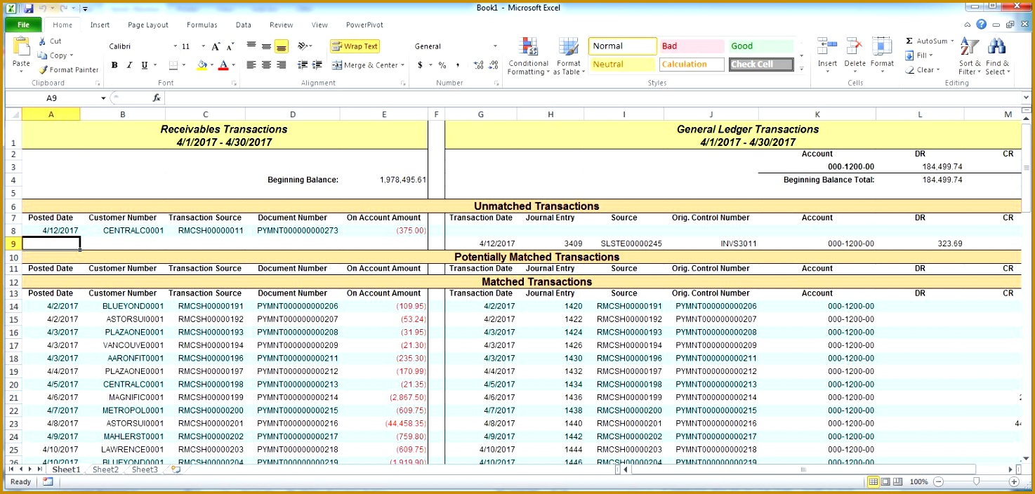 excel general ledger make reconciling effortless with the reconcile to gl utility for 1474704
