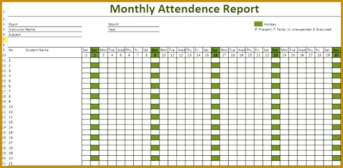 Template 1 Employee Attendance Record 669329