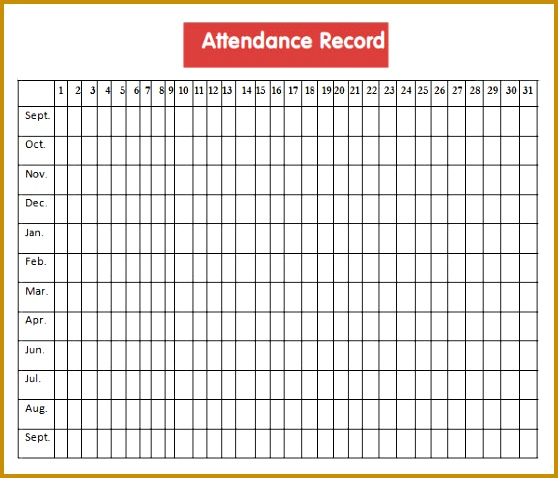 school attendance sheet template 478558