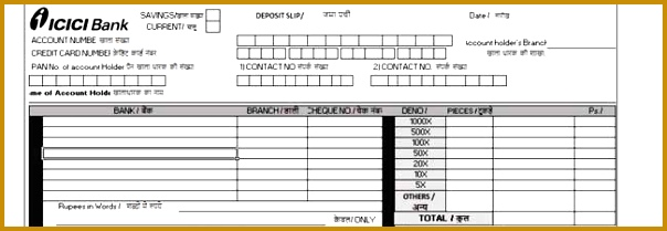 Bank Deposit Slip Template 604209