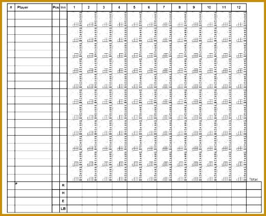 Baseball Scorecard Template  Fabtemplatez
