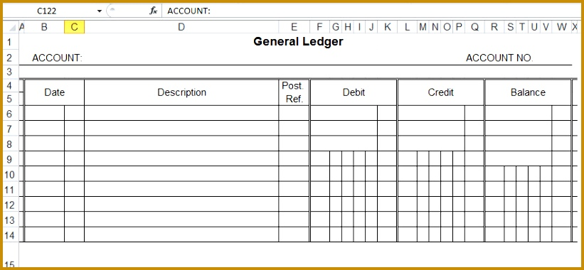 general ledger template and free 380821